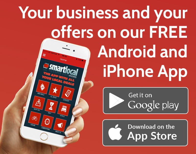 Your business and offers on our FREE Android App (Iphone App launching soon)