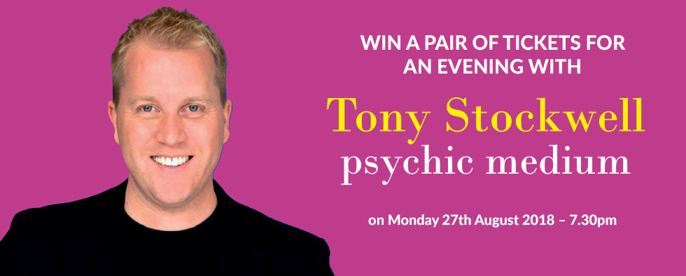 Win a pair of tickets for an evening with Tony Stockwell Psychic Medium