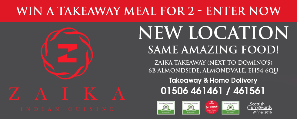 WIN a 'Takeaway Meal for 2' at the NEW Zaika Takeaway
