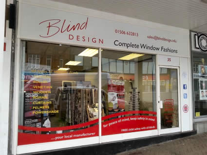 "<p><span style=""font-size: 14pt; color: #000000; background-color: #ffffff;"">Blind Design are a local family run business based in Bathgate, West Lothian, where we manufacture blinds. With over 40 years experience in the window blind trade, we have a knowledgeable team with the answers to your window blind needs.</span></p>